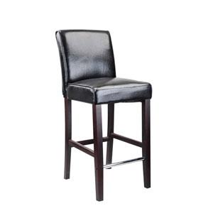 Antonio Black Bonded Leather Bar Height Barstool