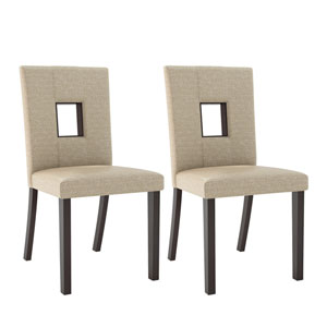 Bistro Woven Cream Dining Chairs, Set of 2
