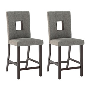Bistro Cappuccino and Grey Sand Dining Chair, Set of Two