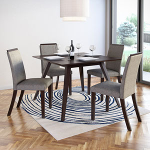 Bistro Pewter Grey Dining Chairs, Set of 2