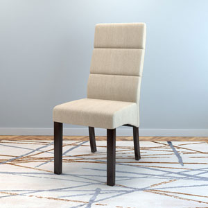 Antonio Tall Back Cream Upholstered Dining Chairs, Set of 2
