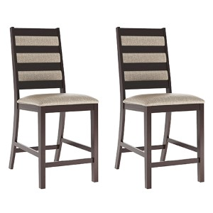 Bistro Cappuccino and Platinum Sage Dining Chair, Set of Two