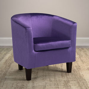 Antonio Tub Chair in Purple Velvet
