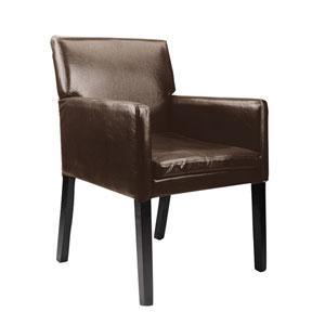 Antonio Dark Brown Bonder Leather Accent Chair