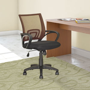 Workspace Light Brown Mesh Back Office Chair