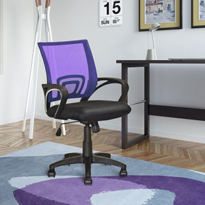 Workspace Purple Mesh Back Office Chair