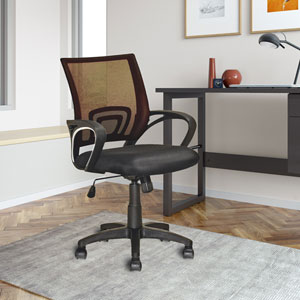 Workspace Dark Brown Mesh Back Office Chair