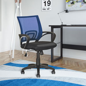 Workspace Navy Blue Mesh Back Office Chair