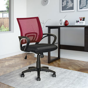 Workspace Maroon Mesh Back Office Chair