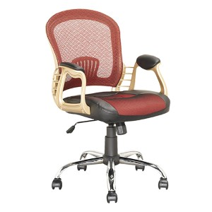 Workspace Black, Red and Gold Executive Swivel Office Chair