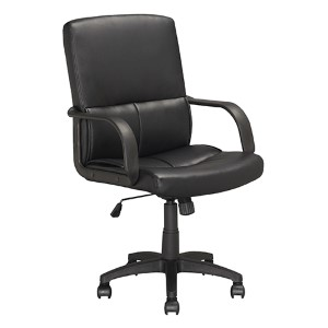 Workspace Black 40-Inch High Executive Swivel Office Chair