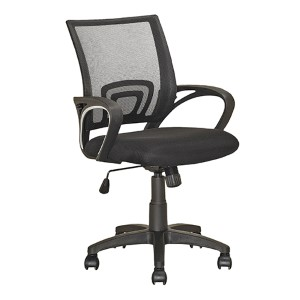 Workspace Black 38.5-Inch High Swivel Office Chair