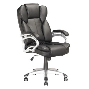 Workspace Black 45.5-Inch High Executive Swivel Office Chair