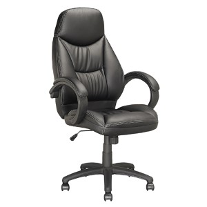 Workspace Black 25.75-Inch Wide Executive Swivel Office Chair
