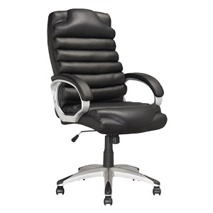 Workspace Black 25.5-Inch Wide Executive Swivel Office Chair