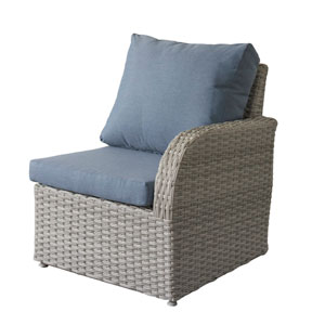 Weather Resistant Resin Wicker Right ArPatio Chair
