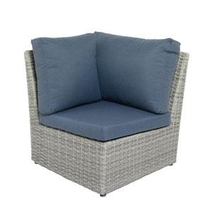 Weather Resistant Resin Wicker Corner Patio Chair
