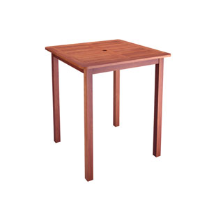 Miramar Cinnamon Brown Hardwood Outdoor Bar Height Table