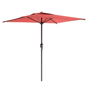 Wine Red Square Outdoor Patio Umbrella