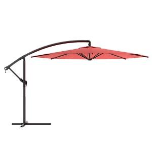Wine Red Offset Outdoor Patio Umbrella