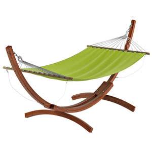 Standing Patio Hammock in Lime Green Canvas