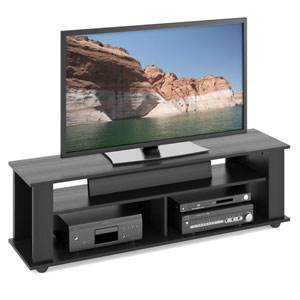 Bakersfield Ravenwood Black TV Stand, for TVs up to 65 Inches