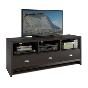 Kansas TV Bench in Espresso Finish, for TVs up to 60 Inch