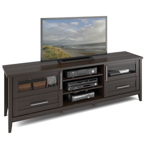 Jackson Extra Wide TV Bench in Espresso Finish