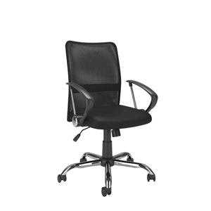Workspace Office Chair with Contoured Black Mesh Back