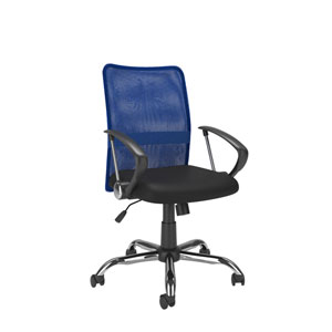 Workspace Office Chair with Contoured Blue Mesh Back