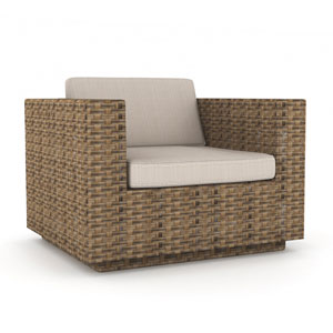 Saddle Strap Brown Weave Chair