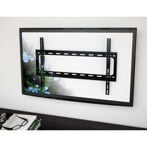 Black Fixed Flat Panel all Mount for 32-Inch - 55-Inch TVs up to 77lbs
