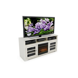 West Lake Warm White 60-Inch Fireplace Bench