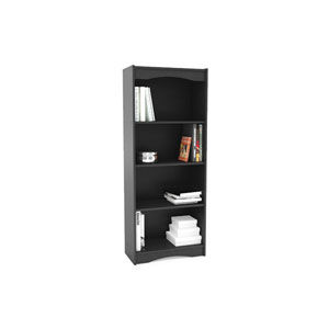 Hawthorn Midnight Black 60-Inch Tall Bookcase