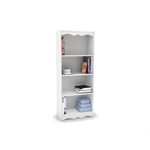 Hawthorn Frost White 60-Inch Tall Bookcase