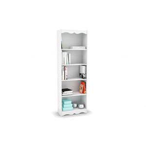 Hawthorn Frost White 72 Inch Tall Bookcase