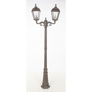 Royal Weathered Bronze Solar LED Double Lamp Post Light