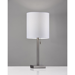 Liam Brushed Steel One-Light Table Lamp
