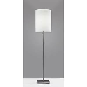 Liam Brushed Steel One-Light Floor Lamp