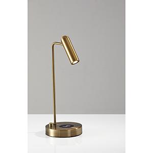 Kaye Antique Brass 220V LED Desk Lamp