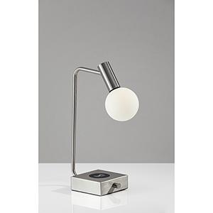 Windsor Brushed Steel 220V LED Desk Lamp