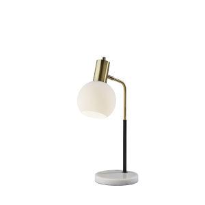 Corbin Black and Antique Brass One-Light Desk Lamp