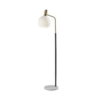 Corbin Black and Antique Brass One-Light Floor Lamp