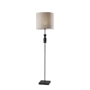 Elton Black Wooden Accent One-Light Floor Lamp