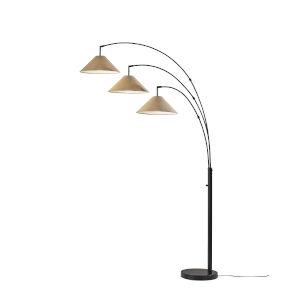 Braxton Dark Bronze Three-Light Floor Lamp
