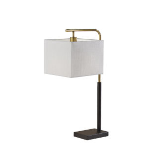 Flora Black and Antique Brass One-Light Table Lamp