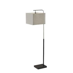 Flora Black and Brushed Steel One-Light Floor Lamp