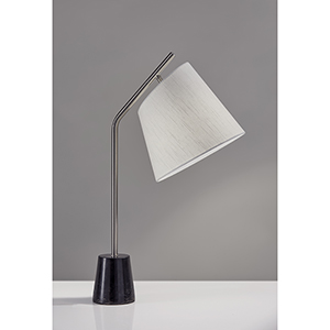 Dempsey Brushed Steel One-Light Table Lamp