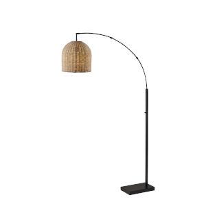 Bahama Dark Bronze One-Light Arc Floor Lamp