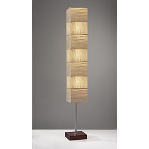 Sahara Brushed Steel Three-Light Floor Lamp